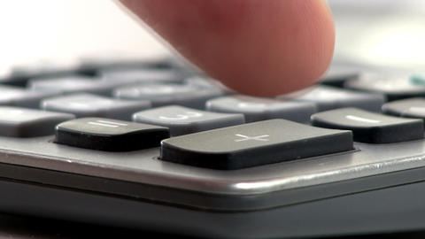 Calculator Keypad Macro stock footage