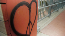 Peace Sign Heart Graffiti Footage
