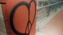 Peace Sign Heart Graffiti Footage