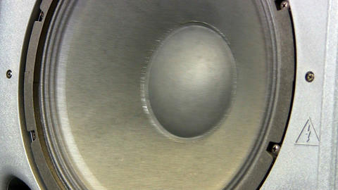 Giant Woofer Speaker; Mid Range Frequency stock footage