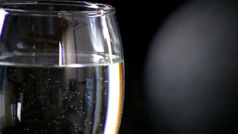 Speaker effects on wine glass Footage