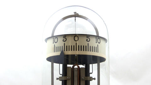 Vintage Physics Lab Galvanometer; 2 stock footage