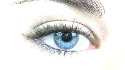 Teenage girl blue eye macro; LR Footage