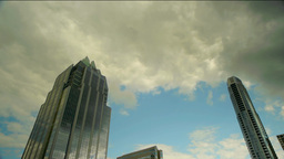 Time Lapse Clouds Over City Footage