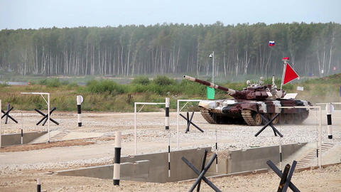Tank Biathlon World Championships in Moscow, Russia Footage