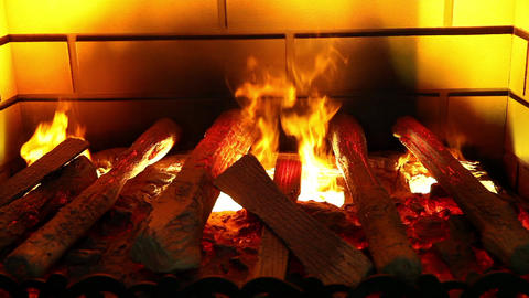 Artificial Electronic Fireplace stock footage