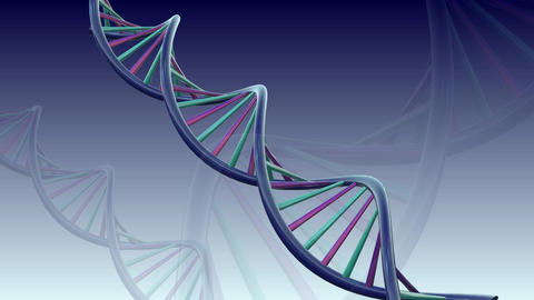 3D DNA Animation stock footage