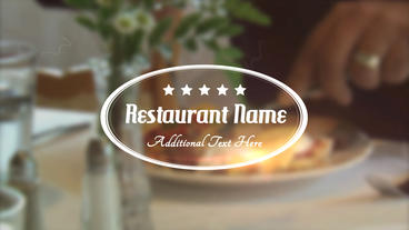 Restaurant Title - Apple Motion Template stock footage