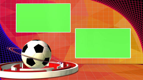 Football News Club Competition Broadcast Television Green Screen stock footage