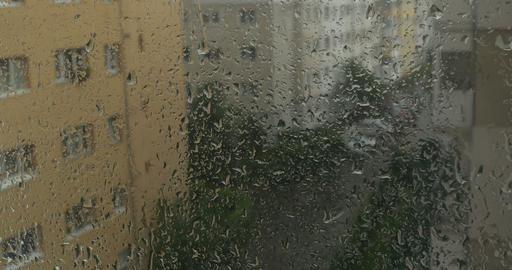 Rain Drops on Window Footage
