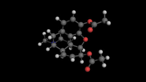 heroin molecule model rotating Animation