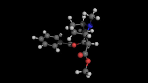 Cocaine Molecule Model Rotating stock footage
