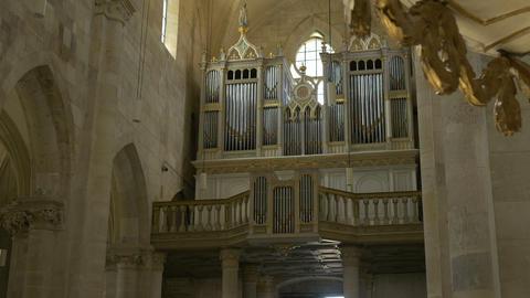Large Church Pipe Organ Footage