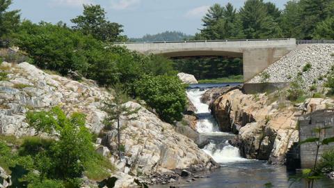 whitefish waterfall ,canada ontario Footage