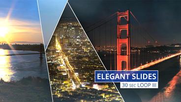 Elegant Slides 30s Loop III stock footage