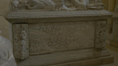 Medieval Stone Sarcophagus Footage
