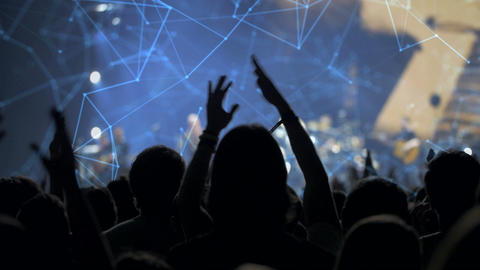 Audience at a concert Footage