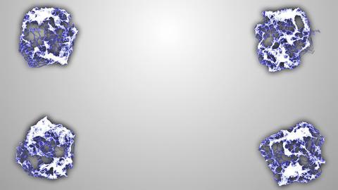Blue-White Molecular Backgrounds 2