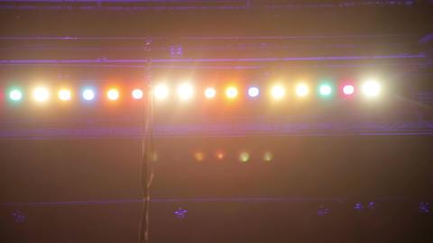 Overhead Stage Lighting stock footage