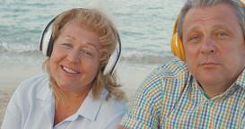 Mature Couple Listening to Music Footage