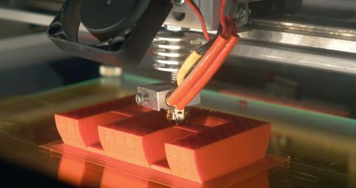 3D printing of letter E Footage