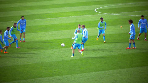 Pre-Match Warm-Up of Football Players