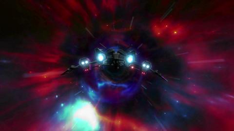 Wormhole Spaceship 2 stock footage