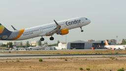 Aircraft Taking Off at Majorca Airport Live Action