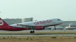 Airplane Turbojet Taking Off at Majorca Airport 4k Footage