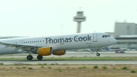 Airbus A321 Taking Off at Majorca Airport Footage
