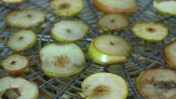 Drying Pears stock footage