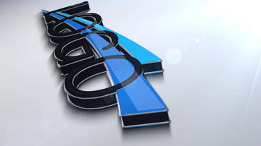 3D Logo Animation stock footage