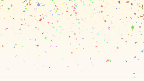 Confetti color BG White Animation