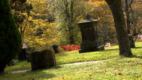 Old Town Cemetery On Cape Cod 8 stock footage