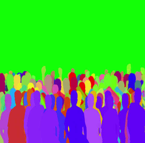 colored people in green screen Animation