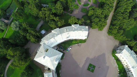 Flying over Palace in Pavlovsk, St. Petersburg Footage