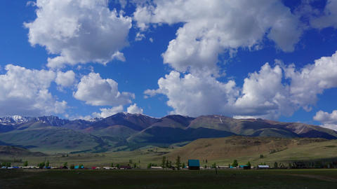 timelapse landscape in Altay mountains, zoom in Footage