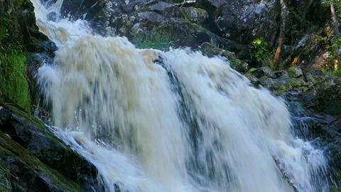 Yukankoski waterfall on river Kulismayoki, Karelia Footage