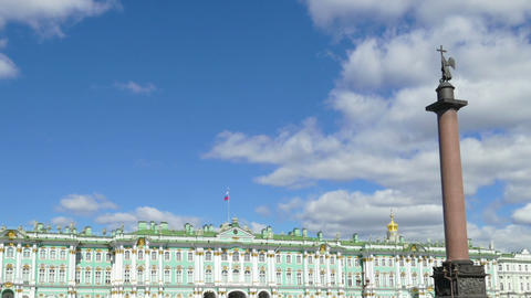 Hermitage and Palace Square - zoom timelapse Footage