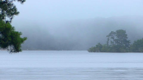 The Foggy Mist Rolls In stock footage
