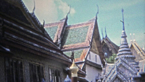 1973: Southeast Asia temple architecture buildings statues and icons Footage