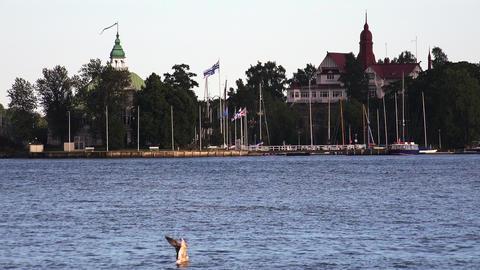 The Harbor, The Port In Helsinki. 4K stock footage