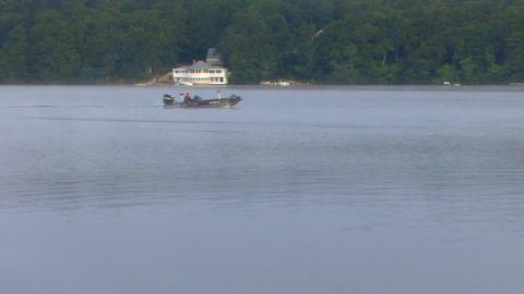 Misty Morning Fishing Footage