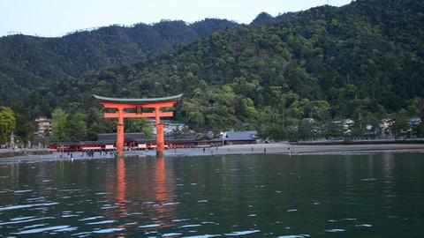 Torii Gate At Miyajima Footage