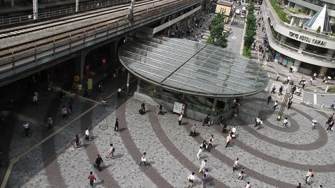 Above View Of People Walking At Tokyo Yurakutyo Toyko,Japan stock footage