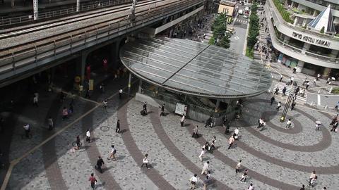 Above view of people walking at Tokyo Yurakutyo Toyko,Japan ビデオ
