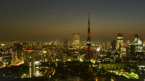 Tokyo tower saving light, Japan cityscape time lapse Toyko,Japan Footage