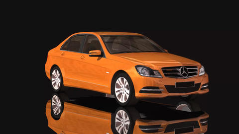 Car Mercedes Benz Moving Rotation Brown Color 애니메이션