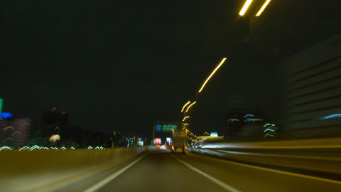 TOKYO drive POV time lapse at night Toyko,Japan Live Action