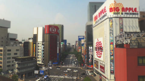 Traffic at avenue Akihabara time lapse Footage